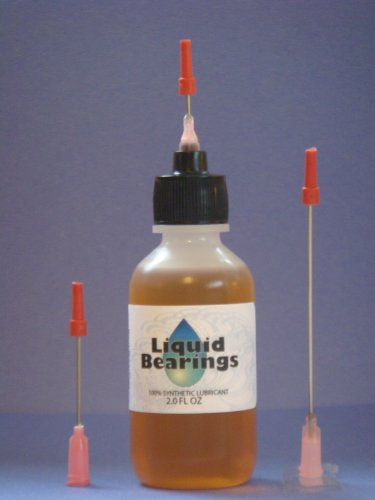 "Larger 2 oz. bottle Liquid Bearings with Extra-Long 3 "" needle tip, the superior 100%-synthetic oil for Grandfather clocks or any clocks, frees sticky or rusty mechanisms, never becomes gummy, the BEST for clocks of all (Weather Bearings)"