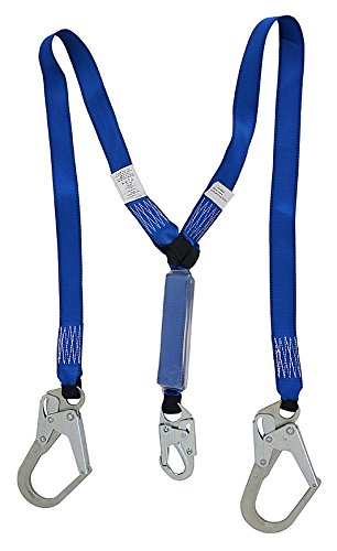NARA SAFE NS9100001, 6 ft double lanyard with shock absorber