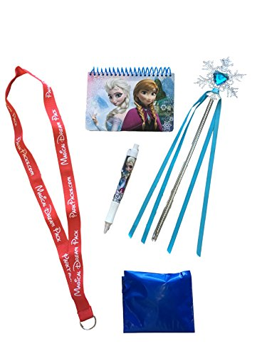 Mickey and Minnie Disney World Vacation Gift Set with Essential Park Accessories (Frozen Blue Snowflake Wand) (Disney Dream Pin)