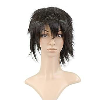 Black Anime Costume Cosplay Short Length Cut Wig