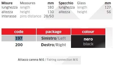 pour Aprilia AF1 125 Paires de r/étroviseurs de Moto R/étroviseur GENEHMIGT 197+200 Blanc