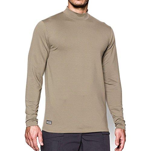 Under Armour Men's ColdGear Infrared Tactical Fitted Mock, Desert Sand /Desert Sand, - Tactical Ls Shirt