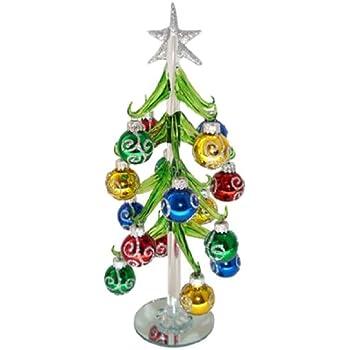 Amazoncom Red Carpet Studios Miniature Glass Christmas Tree With