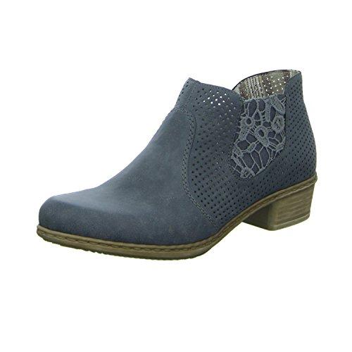 Las mujeres tobillo 36 37 38 39 40 41 42 Rieker azul M0757-14 Zapatilla blau