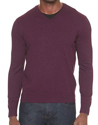 Men Banana Republic Sweater (Banana Republic Men's Premium V-Neck Sweater (Wine, M))