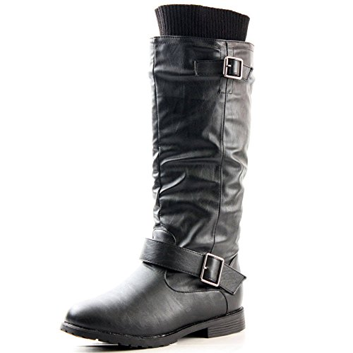 Black Motorcycle Riding Boots - 6
