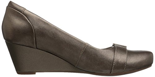 Clarks Poppy Leather Pewter Flores Pump Women's 0ZRnc60va