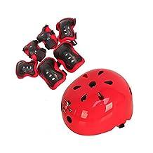 1Set(7PCS) Children's Sports Skateboard Skate Protective Gear Safety Pad Safeguard (Head Knee Elbow Wrist) Support Pad Set Equipment