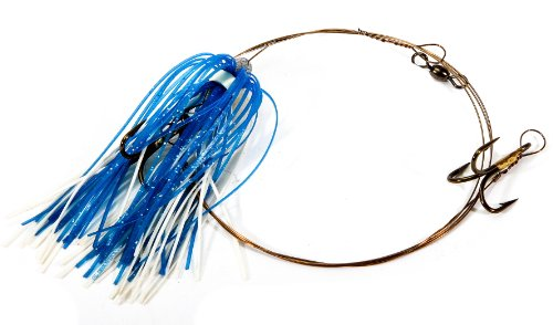Boone Duster Rig (2# 4 Treble Hook), Blue/White