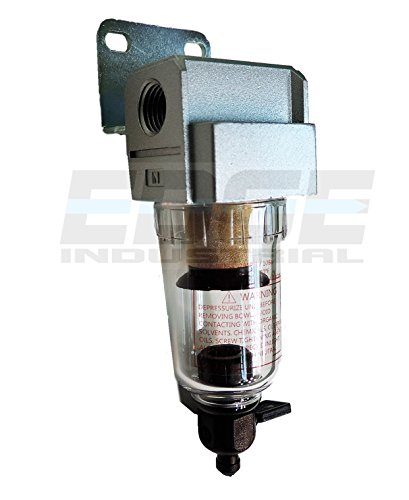 COMPRESSED AIR IN-LINE MINI PARTICULATE FILTER / WATER TRAP, 1/4'' NPT, 5 MICRON by T-H-B CO EDGE INDUSTRIAL