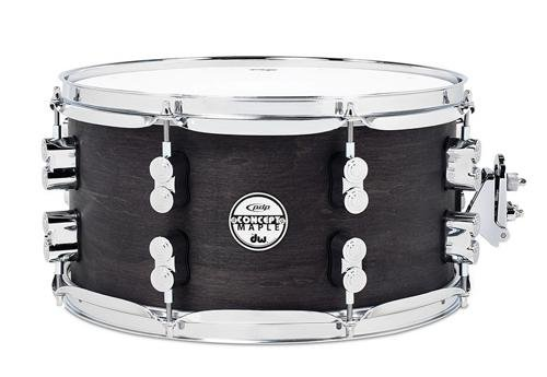 PDP By DW Black Wax Maple Snare Drum (Flanged Wax)