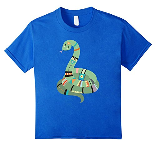 Kids Tribal Pattern Jungle Snake | Cute Animal Gift & T-Shirt 6 Royal Blue (Jungle Patterns)