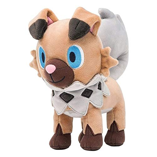 Cartoon Figure Rockruff Plush Toy Doll Cute Soft Stuffed Animals Dog Dolls Kawaii Peluche Pkachu Toys Kids Gift Grey
