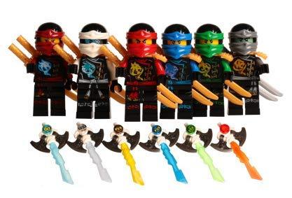 Amazon.com: Good For You2 Store Ninja Minifigures 6Pcs Set ...