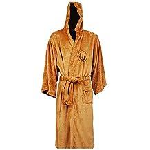 Men's Bath Robe Jedi Knight Robe Cosplay Costume Brown Size Large