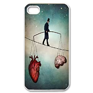 IPhone 4/4s Cases Listening to Your Heart Vs Your Brain. Surrealism, IPhone 4/4s Cases Surrealism, [White]