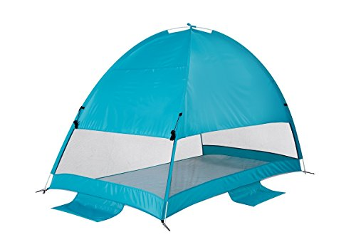 Beach Tent CoolHut Plus Sun Shelter Instant Portable Cabana Shade Outdoor Popup Anti-UV 50+ Lightest & Most Stable Easyup By Alvantor