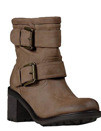 Toocool ,  Damen Biker Boots Kaki