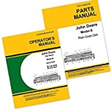 John Deere Van Brunt B Grain Drill Owners Operators Manual and Parts Catalog Set with Instructions for Operating Maintenance and Adjustments, Parts Names, Numbers, Exploded Views for Assembly