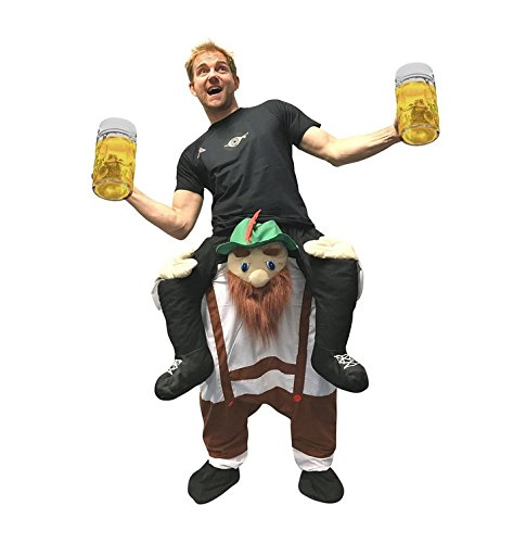 Unisex Piggyback Bavarian Bearded Man Costume - With Stuff Your Own (Mens Costumes)