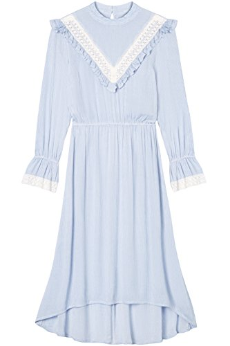 Striped con Pizzo Blusa Blue Blu Donna FIND YTgSq4wO