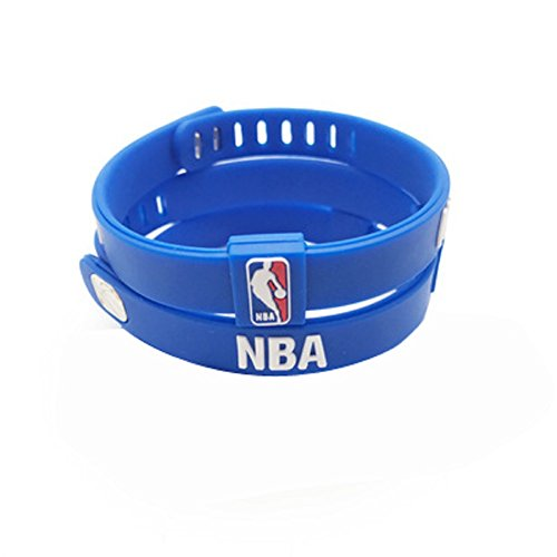 ENJOY 11 NBA Basketball Team Adjustable Silicone Bracelets Wristbands, a set of two (NBA LOGO) (Logo Team Bracelet)