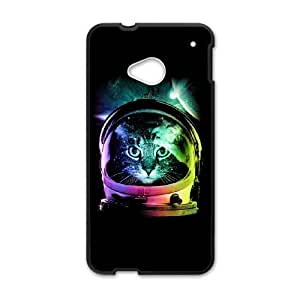 HTC One M7 Cell Phone Case Black astronaut cat V.II PCC Ballistic Cell Phone Case