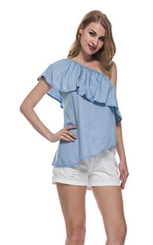 FUNOC Shoulder Sleeveless Irregular Camisole