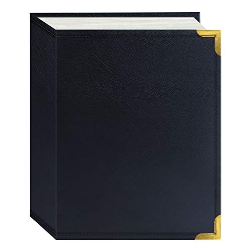 Pioneer Photo Albums 100 Pocket Navy Blue Sewn Leatherette Cover with Brass Corner Accents Photo Album, 4 by ()