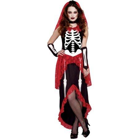 Walmart Halloween Costumes Adults (Bone-Ita Skeleton Beauty Adult Women's Halloween Costume, Small (4-6))