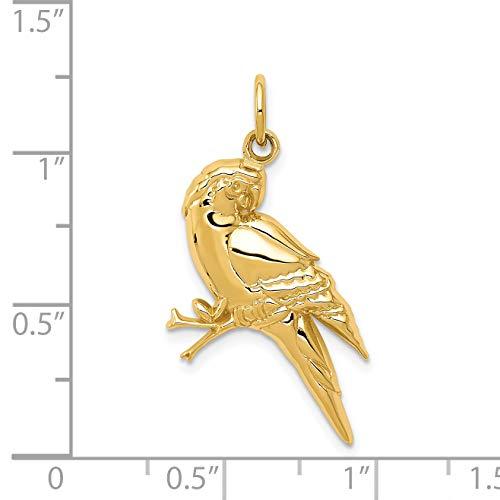 14k Yellow Gold Parrot Charm by DiamondJewelryNY (Image #3)