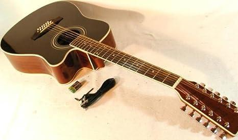 Cher rystone 4260180886153 Western de 12 cuerdas Guitarra con ...