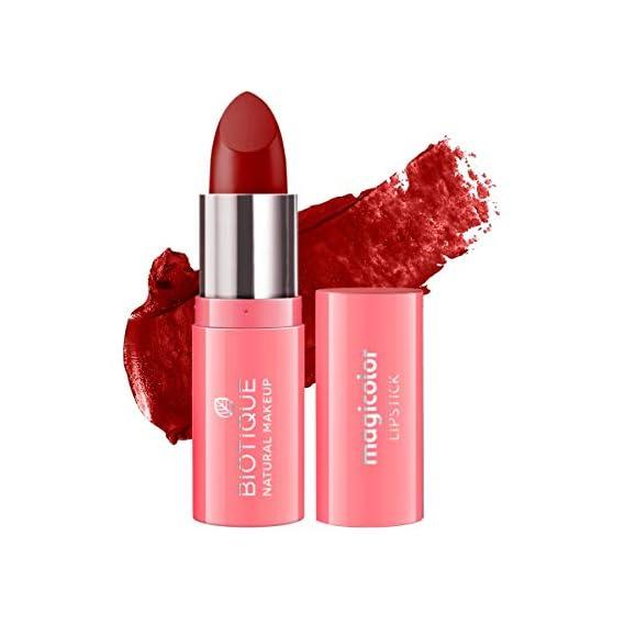 Biotique Natural Makeup Magicolor Lipstick, Red Velvet, 4g
