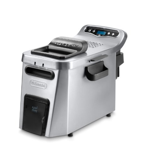 DeLonghi D34528DZ Dual Zone Deep Fryer, 10.63