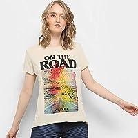 Camiseta Drezzup Estampada Fenda Lateral Feminina