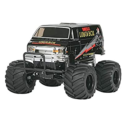 Tamiya America, Inc 1/12 Lunch Box Monster Truck Kit, Black Edition, TAM58546: Toys & Games