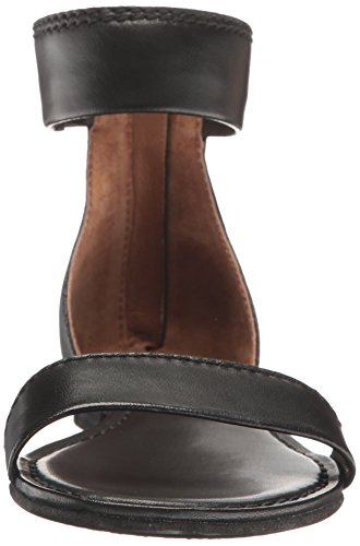 Sandal Ankle Flat Frye Women's Black Zip Carson BEcWXWqp