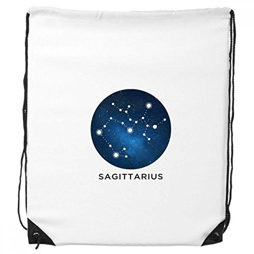 Sagittarius Constellation Zodiac Sign Drawstring Backpack Shopping Gift Sports Bags