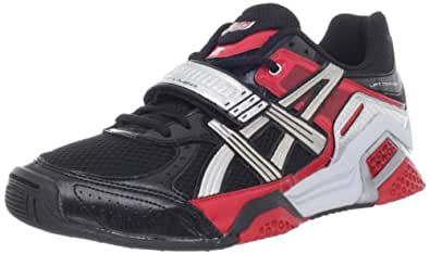 ASICS Men's Lift Trainer Running Shoe,Black/Silver/Red,6.5 M US