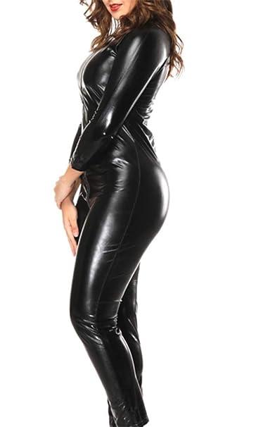 Amazon.com: Sorrica - Traje sexy de piel sintética para ...
