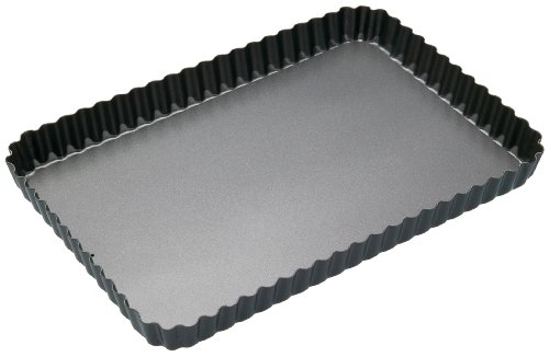 Kitchencraft Masterclass Non-stick Fluted Rectangular Tart Tin/quiche Pan With