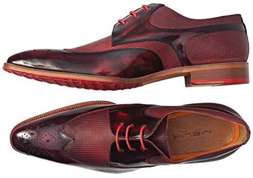 Bordeaux De Melik Chaussures Pour Rouge Lacets Homme Ville Shoes À FOTSOqZn