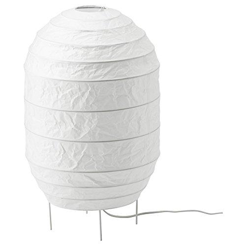 Steel Paper Floor Lamp - Noguchi Akari Inspired Japanese Paper Shade Floor Lamp, Cozy Soft Light, White, 22