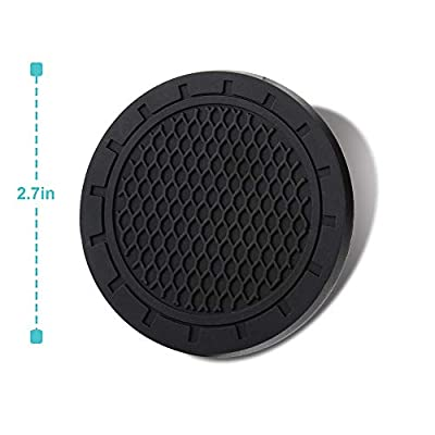 2 Pcs 2.75 inch Car Interior Accessories Anti Slip Cup Mat for for Cadillac, Nissan, Honda, Subaru, Mercedes-Benz, GMC, Chevrolet, etc.All Brands of Cars: Automotive
