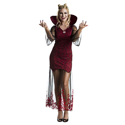Female Dracula Costumes (Womens Gothic Vampire Queen Vixen Fancy Dress Costume Costume,Med 6 - 8 US,Red)
