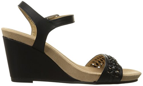 Women's Burnished Black Laundry Sandal CL by Think Chinese Wedge tHnq7xawR8