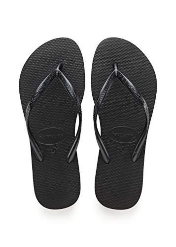 Havaianas Women's Slim Flip Flop Sandal, Black, 6 M US