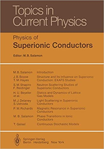 Physics Of Superionic Conductors Topics In Current Physics