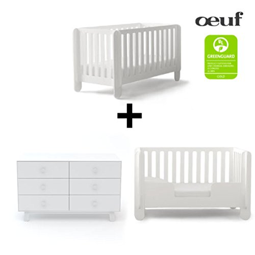 Oeuf Elephant Collection Complete Nursery in White with 6