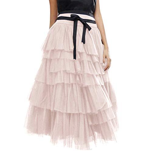 (Women Tulle Skirt Vintage Colorful Tutu Petticoat Ball Gown Skirt)